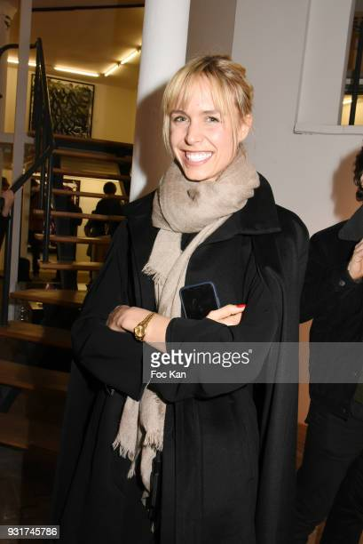Anne Sophie Kamar attends ÔBirth of The WindÕ JonOne Preview at Galerie Brugier Rigail on March 13 2018 in Paris France
