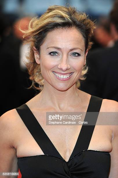 """Anne Sophie Lapix at the premiere for """"Amour"""" during the 65th Cannes International Film Festival."""