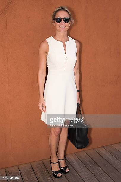 Anne Sophie Lapix attends the French Open at Roland Garros on June 6 2015 in Paris France