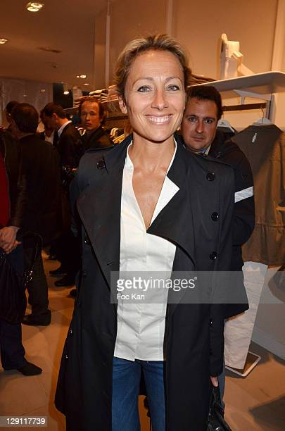 c3b093edd06535 Anne Sophie Lapix attends the Lacoste Flagship Store Opening Party at  Lacoste Champs Elysees on April
