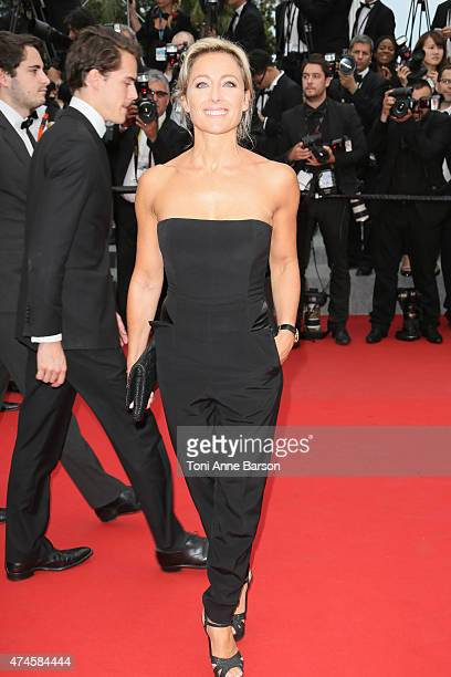 Anne Sophie Lapix attends the Macbeth premiere during the 68th annual Cannes Film Festival on May 23 2015 in Cannes France