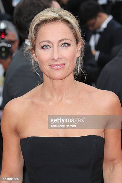Anne Sophie Lapix attends the 'Macbeth' premiere during the 68th annual Cannes Film Festival on May 23 2015 in Cannes France