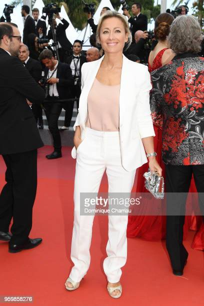 Anne Sophie Lapix attends the screening of The Wild Pear Tree during the 71st annual Cannes Film Festival at Palais des Festivals on May 18 2018 in...
