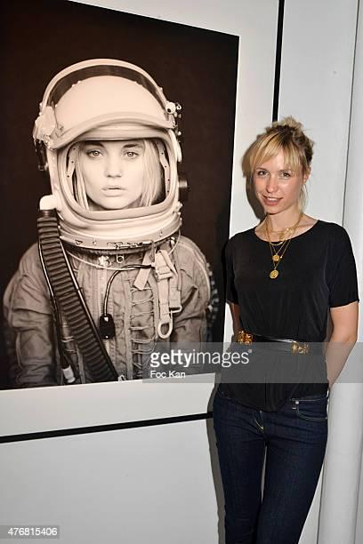 Anne Sophie Mignaux attends the 'A L'Impossible Je Suis Tenu' Mathieu Cesar Photo Installation At Espace 17 Rue Commines on June 11 2015 in Paris...