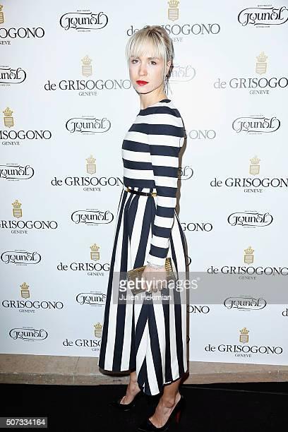 Anne Sophie Mignaux attends the De Grisogono Photocall At Rue de La Boetie In Paris on January 28 2016 in Paris France