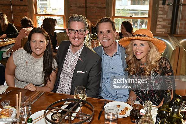 Anne Spence Richard Shaw Patrick Lawler and Ellen Westbrook attends VIP Out On A Limb dinner at Catch on April 30 2016 in New York City prior to his...