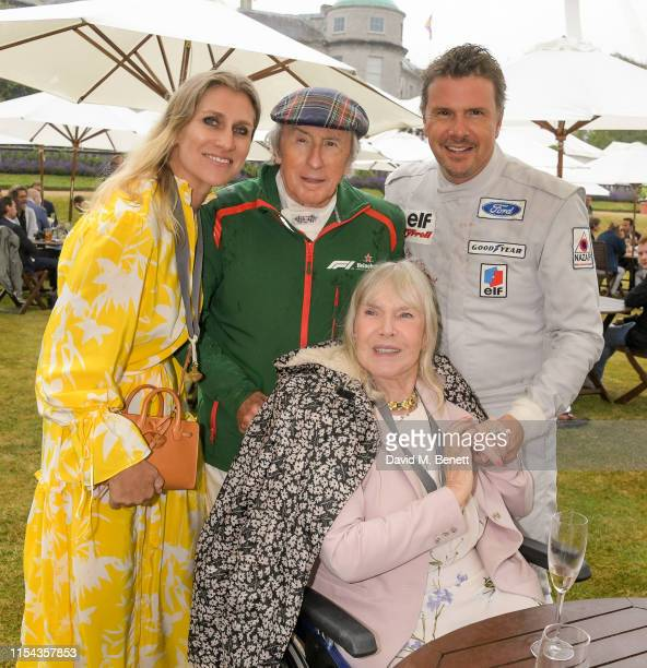 Anne Stewart Sir Jackie Stewart Mark Stewart and Helen Stewart attend Cartier Style Et Luxe at the Goodwood Festival Of Speed 2019 on July 7 2019 in...