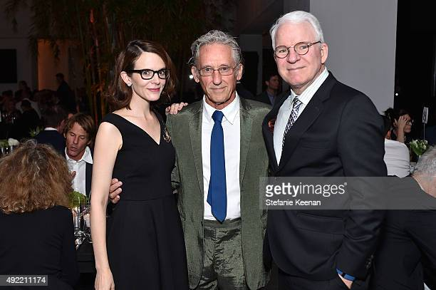 Anne Stringfield Ed Ruscha and Steve Martin attend Hammer Museum's Gala in the Garden Sponsored by Bottega Veneta at Hammer Museum on October 10 2015...
