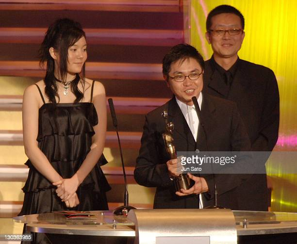 Anne Suzuki and winner during The 24th Annual Hong Kong Film Awards Ceremony at Hong Kong Coliseum in Kowloon Hong Kong