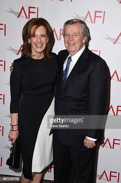 Anne Sweeney and business executive Robert A Daly attend the 15th Annual AFI Awards at Four Seasons Hotel Los Angeles at Beverly Hills on January 9...