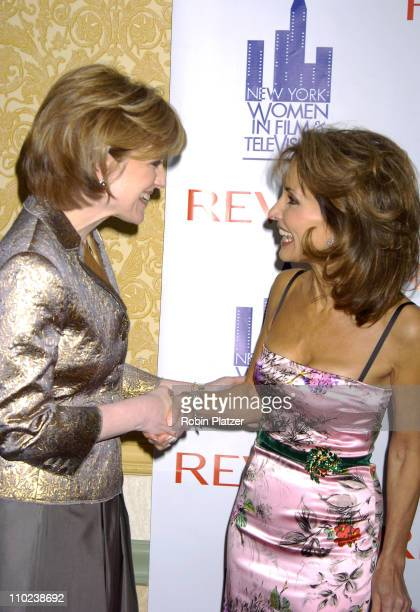 Anne Sweeney and Susan Lucci during 2004 Muse Awards Luncheon Arrivals at The New York Hilton Hotel in New York City New York United States