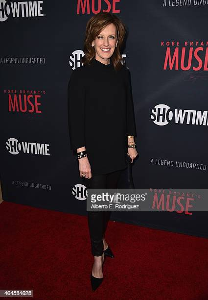 Anne Sweeney attends the premiere of Showtime's 'Kobe Bryant's Muse' at The London Hotel on February 26 2015 in West Hollywood California