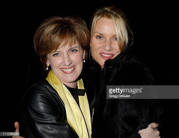 Anne Sweeney CoChair Disney Media Networks and President DisneyABC Television Group with Nicollette Sheridan