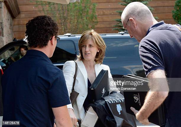 Anne Sweeney CoChair of Disney Media Networks and President of DisneyABC Television Group arrives for the Allen Company Sun Valley Conference on July...