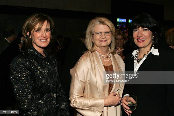 Anne Sweeny Geraldine Laybourne and Christiane Amanpour attend She Made It The Museum of Television and Radio Celebrates the Writers Directors...