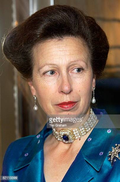 Anne, The Princess Royal, In A Silk Evening Dress And Jacket For A Dinner At The Royal Victoria Dock In East London For Supporters Of The Princess...