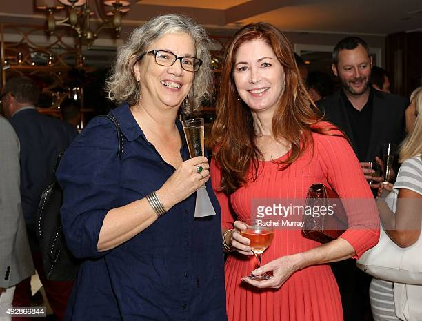 Anne Thompson and actress Dana Delany attend IMDb's 25th Anniversary Party cohosted by Amazon Studios presented by VISINE at Sunset Tower Hotel on...