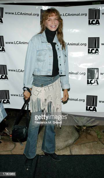 Anne Turkel attends the Last Chance For Animals fundraiser party on February 12 2003 in Los Angeles California The event benefits National Pet Theft...