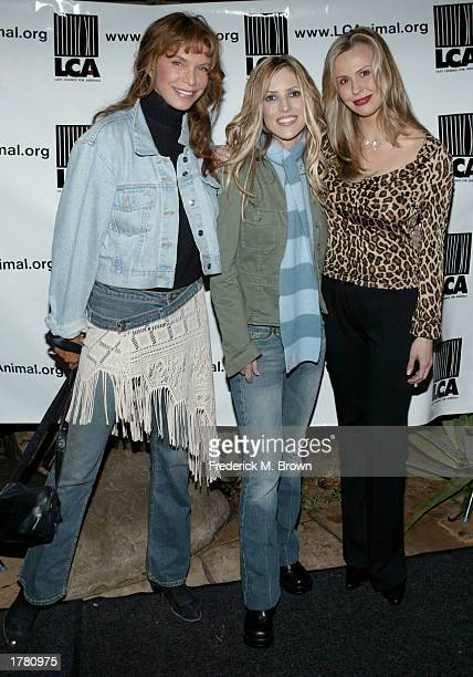 Anne Turkel Jillian Barberie and Natasha Allas attend the Last Chance For Animals fundraiser party on February 12 2003 in Los Angeles California The...