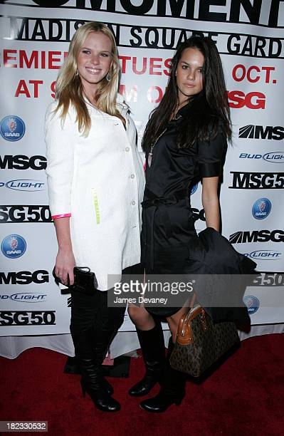 Anne V and Aly Rizzo during The 50 Greatest Moments at Madison Square Garden Screening at IFC in New York City at IFC Center in New York City New...