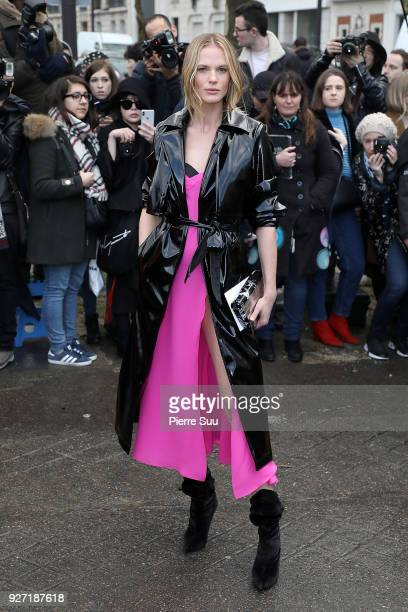 Anne V arrives at the Valentino show as part of the Paris Fashion Week Womenswear Fall/Winter 2018/2019 on March 4 2018 in Paris France