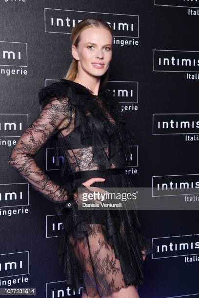 Anne V attends the Intimissimi Show on September 5 2018 in Verona Italy