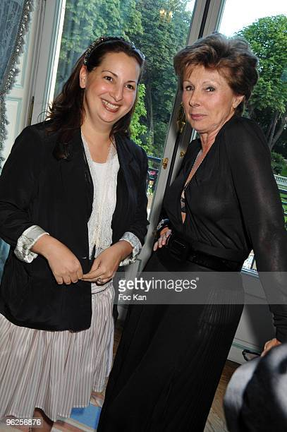 Anne Valerie Hash and Marie Louise de Clermont Tonnerre attend the PARIS FASHION WEEK 09 FALL WINTER HAUTE COUTURE Ð Federation Francaise de La...