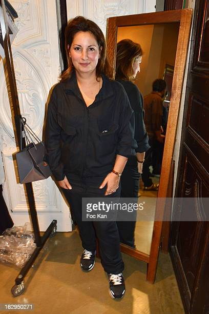 Anne Valerie Hash attends the AnneValerie Hash Runway PFW F/W 2013 at 36 Bd Bonne Nouvelle on March1rst 2013 in Paris France Photo by Foc Kan/Getty...