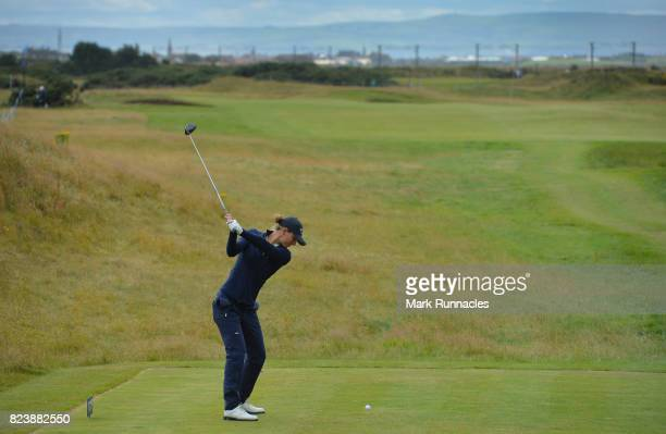 Anne Van Dam of Netherlands plays her tee shot to the 7th hole during the second day of the Aberdeen Asset Management Ladies Scottish Open at...