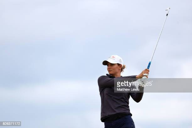 Anne Van Dam of the Netherlands hits her second shot on the 4th hole during the second round of the Ricoh Women's British Open at Kingsbarns Golf...