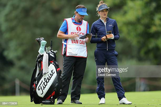 Anne Van Dam of the Netherlands looks on during the first round of the 2016 Ricoh Women's British Open on July 28 2016 in Woburn England