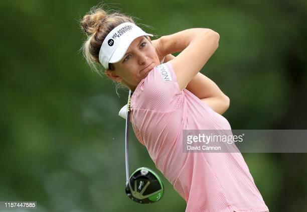 Anne Van Dam of the Netherlands plays her tee shot on the par 5, 15th hole during the second round of the 2019 KPMG Women's PGA Championship at...