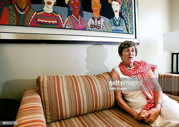 Anne van Zyl the new headteacher at Oprah Winfrey's Leadership Academy for Girls in HenleyonKlip Meyerton as of January 2010 sits on a sofa February...