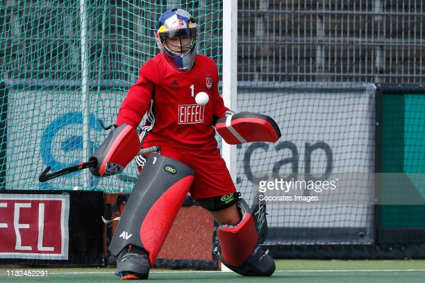 Anne Veenendaal of Amsterdam Dames 1 during the Hoofdklasse Women match between Amsterdam v SCHC at the Wagener Stadium on March 24 2019 in...