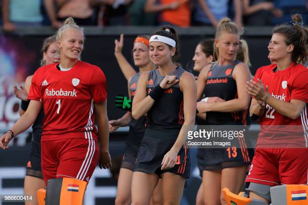 Anne Veenendaal of Holland Women Eva de Goede of Holland Women Caia van Maasakker of Holland Women Josine Koning of Holland Women during the Rabobank...
