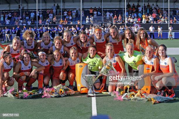 Anne Veenendaal of Holland Women Kitty van Male of Holland Women Malou Pheninckx of Holland Women Laurien Leurink of Holland Women Xan de Waard of...