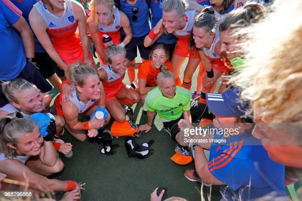 Anne Veenendaal of Holland Women Kitty van Male of Holland Women Malou Pheninckx of Holland Women Laurien Leurink of Holland Women Xan de Waard of...