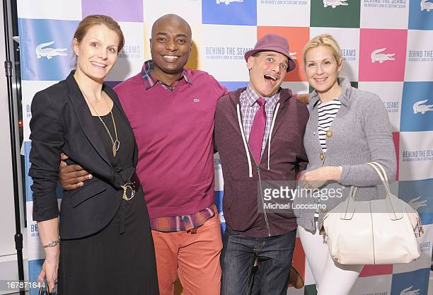 Anne Vincent of Vogue Shaman Durek Verrrett Phillip Bloch and actress Kelly Rutherford attend the 'Behind The Seams' east coast premiere party at...