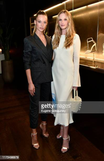 Anne Vyalitsyna and Hannah Ferguson attend the Alevi Milano NYFW Dinner on September 09, 2019 in New York City.