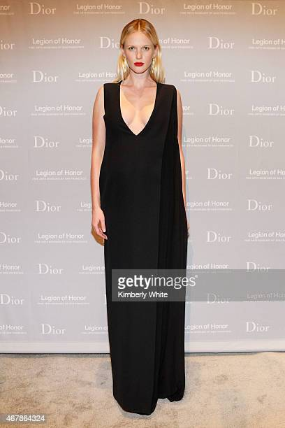 Anne Vyalitsyna attends the 2015 MidWinter Gala presented by Dior at Legion Of Honor on March 27 2015 in San Francisco California