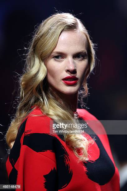 Anne Vyalitsyna walks the runway at amfAR's 21st Cinema Against AIDS Gala Presented By WORLDVIEW, BOLD FILMS, And BVLGARI at Hotel du Cap-Eden-Roc on...
