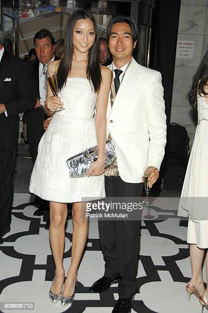 Anne Watanabe and Rafe Totengco attend The 2007 CFDA Fashion Awards at The New York Public Library on June 4, 2007 in New York City.
