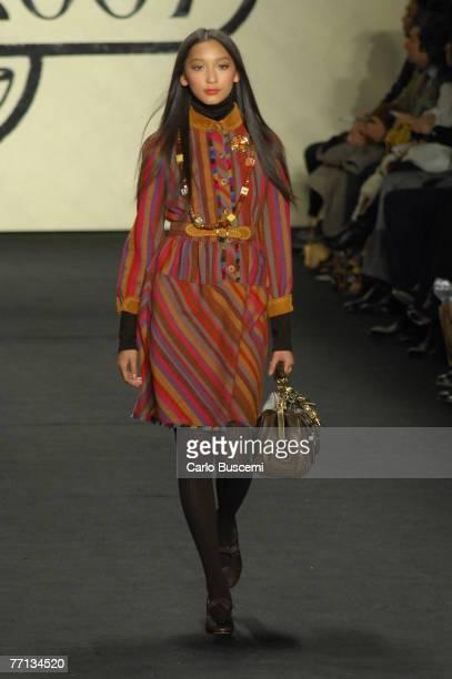 Anne Watanabe wearing Anna Sui Fall 2007