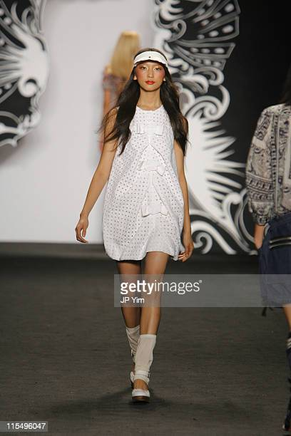 Anne Watanabe wearing Anna Sui Spring 2007 during Olympus Fashion Week Spring 2007 - Anna Sui - Runway in New York City, New York, United States.