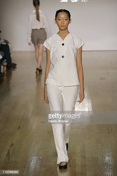 Anne Watanabe wearing Araks Spring 2007 during Olympus Fashion Week Spring 2007 - Araks - Runway at Altman in New York City, New York, United States.