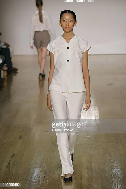 Anne Watanabe wearing Araks Spring 2007 during Olympus Fashion Week Spring 2007 - Araks - Runway at Altman in New York City, New York, United States.