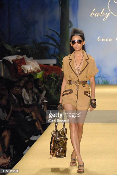 Anne Watanabe wearing Baby Phat Spring 2007 during Olympus Fashion Week Spring 2007 - Baby Phat - Runway at The Tent, Bryant Park in New York City,...