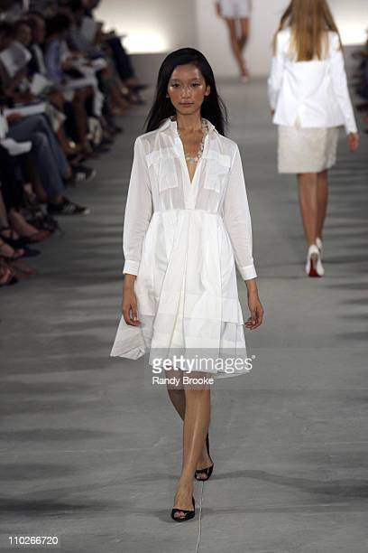Anne Watanabe wearing Derek Lam Spring 2006 during Olympus Fashion Week Spring 2006 - Derek Lam - Runway at Milk Studios in New York City, New York,...