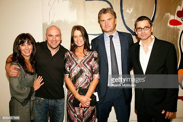 Anne White Dana White Hillary Lynch Christophe Van de Weghe and Kevin Lynch attend OCTAGON THE EXHIBITION at VAN DE WEGHE Fine Art at Van De Weghe on...