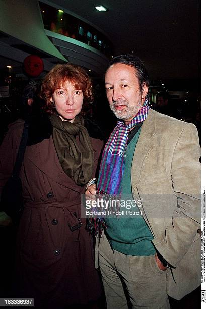 Anne Wiazemsky and Jerome Clement at theParis Premiere Of The Movie L'Ecole De La Chair